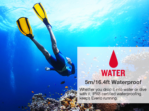WATER 5m/16.4ft Waterproof